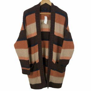 American Eagle Thick Knit Cozy Long Open Cardigan